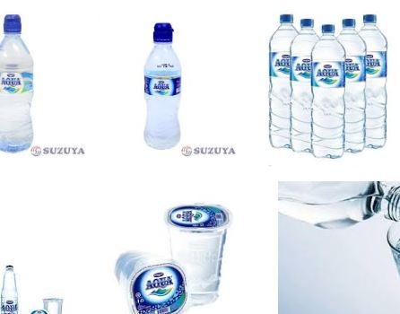 air mineral aqua tebakan ospek sekolah