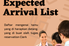 Expected arrival list